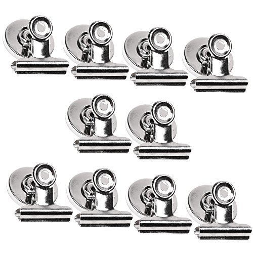- COSMOS 10 Pcs Heavy Duty Metal Refrigerator Magnetic Spring Clips Clamp