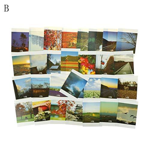 Cards & Invitations - 30 Pcs Set Christmas Postcards Greeting Birthday Message Cards Paris Maldives London Hokkaido - Jewelry With Background Magnet Gift Card Micro Postcard Japan Retro Pot Inv