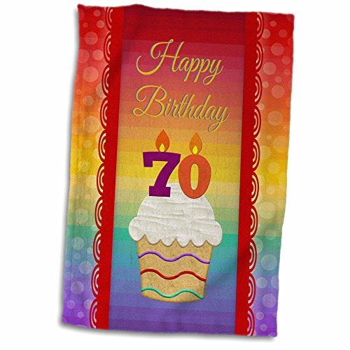 3dRose-Beverly-Turner-Birthday-Design-Cupcake-with-Number-Candles-70-Years-Old-Birthday-Towel