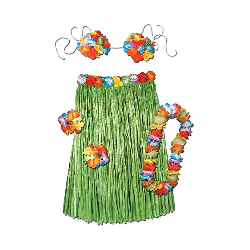 (Bargain World Complete Hula Outfit (Adult) (with Sticky Notes))