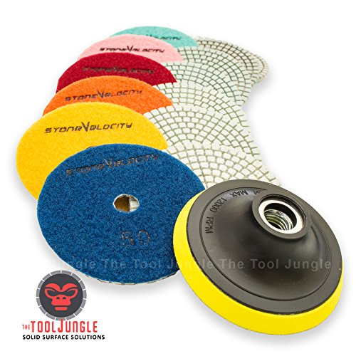 diamond polishing pads set - 5