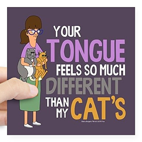 CafePress - Bob's Burgers Gayle Cats Square Sticker 3