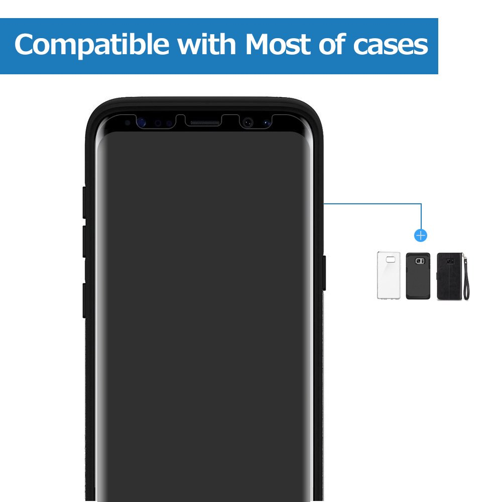 Galaxy S8 Plus Screen Protector, Alinsea Galaxy S8 Plus(S8+) Screen Protector Case Friendly] [Bubble-Free] [Anti-Scratch] [No Lifted Edges] for Samsung Galaxy S8+
