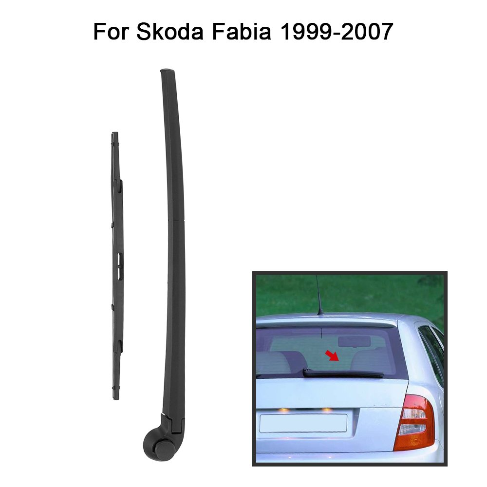 KKmoon UVU5037163382780YX Car Rear Window Windshield Wiper Arm /& Blade Complete Replacement Set