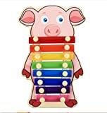 Polymer Musical Toys 8-Tone Chinese Zodiac Infant Child Octave Clappers Piano Percussion(Pig)