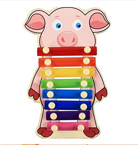 Polymer Musical Toys 8-Tone Chinese Zodiac Infant Child Octave Clappers Piano Percussion(Pig) by Polymer