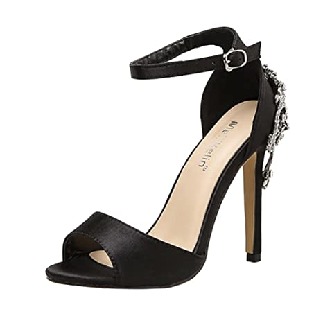 d551df80c135f Amazon.com  SUKEQ Stiletto Heel Sandals