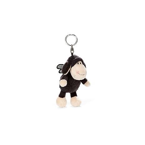 NICI - Oveja Jolly Mäh Dont Worry be Happy, Llavero Bean Bag, 10 cm (39831)