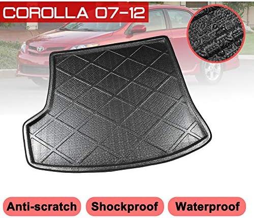 ZYHZJC Auto Kofferraummatte,Für Toyota Corolla 2007-2012 Boot Mat wasserdichte Fußmatten Teppich Anti Mud Tray Cargo Liner