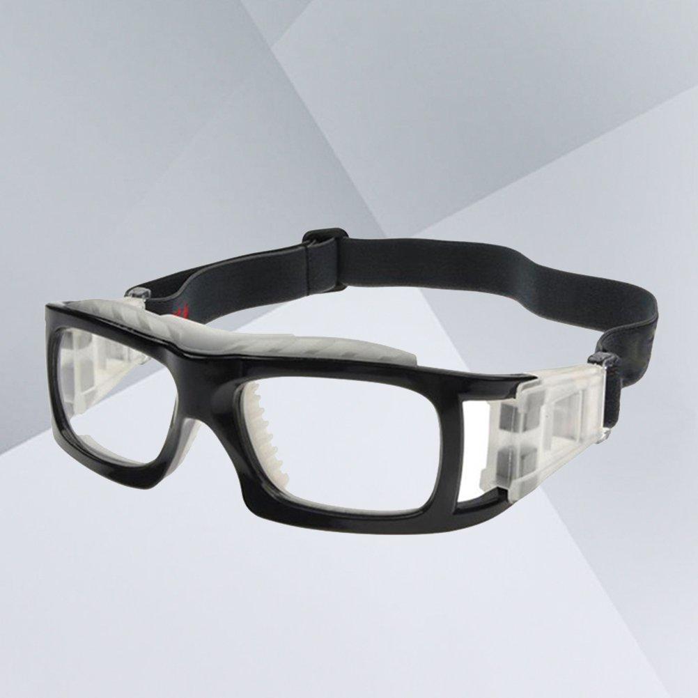 VORCOOL Gafas deportivas Lentes transparentes Gafas deportivas Gafas resistentes a los impactos con correa ajustable para baloncesto Balonvolea ...