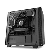 NZXT H400i - MicroATX PC Gaming Case - RGB Lighting and Fan Control - CAM-Powered Smart Device - Tempered Glass Panel - Enhanced Cable Management System – Water-Cooling Ready - Black