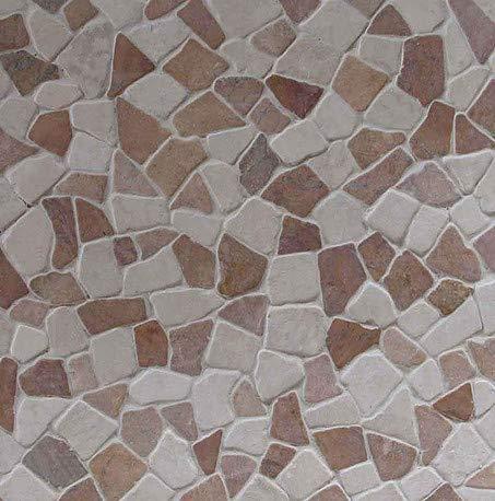 1m/² = 11 Fliesen M-1-004 Naturstein Marmor Bruchstein Mosaikfliesen Marmormosaik Fliesen Lager Verkauf Stein-Mosaik Herne NRW