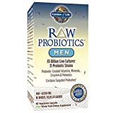 Garden of Life - RAW Probiotics Men - Acidophilus and Bifidobacteria Probiotic-Created Vitamins, Minerals, Enzymes and Prebiotics - Gluten and Soy-Free, Non-GMO - 90 Vegetarian Capsules