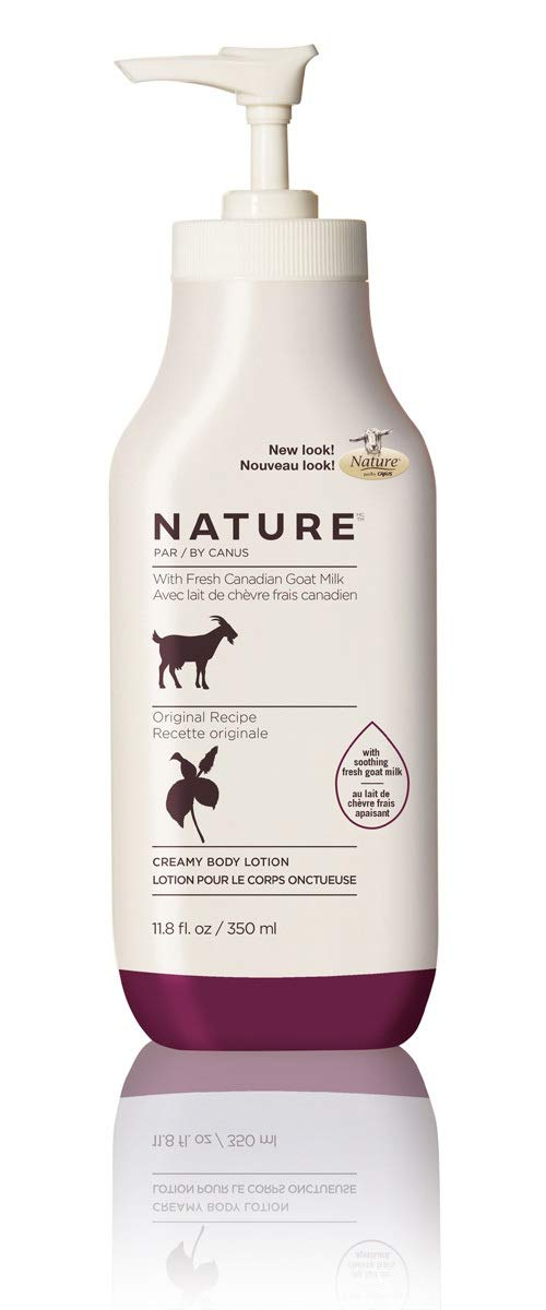 Amazon.com : Nature by Canus Creamy Body Lotion with Fresh Canadian Goat Milk, Olive Oil & Wheat Proteins, 11.8 Fluid Ounce : Beauty