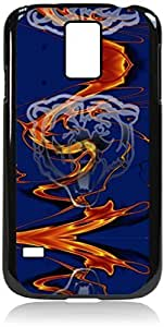 Bears-Logo Art- Hard Black Plastic Snap - On Case with Soft Black Rubber LiningGalaxy s5 i9600 - Great Quality!