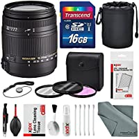 Sigma 18-250mm F3.5-6.3 DC Macro OS HSM Lens for Canon EF Mount with Deluxe Accessory Bundle and Xpix Cleaning Kit