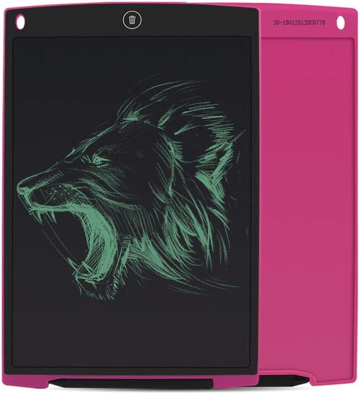 LCD Writing Tablet 12 Inches LCD Electronic Light Blackboard Writing Board Childrens Graffiti Painting Board Color : Rose, Size : 12 inches Rose