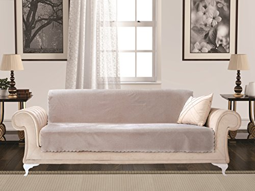 Anti-Slip Armless 1-Piece Sofa Throw Slipcover for Dogs Pets Kids Non-Slip Furniture Cover Shield Protector Fitted 2 & 3 Cushion Couch Futon Sectional Recliner Seater Diamond Sofa New Stone