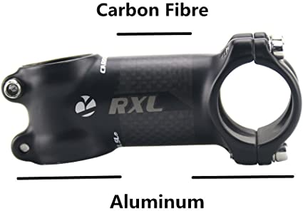 Carbon 3K 7° MTB Mountain Road Bike handlebar stems Bicycle Stem 31.8*60-110mm