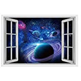 3D Wall Sticker, Staron 3D Galaxy Wall Decor Sticker Vinyl Art Floor Decals Removable Wall Sticker Decorations for Living Room (Art Galaxy❤️) Review