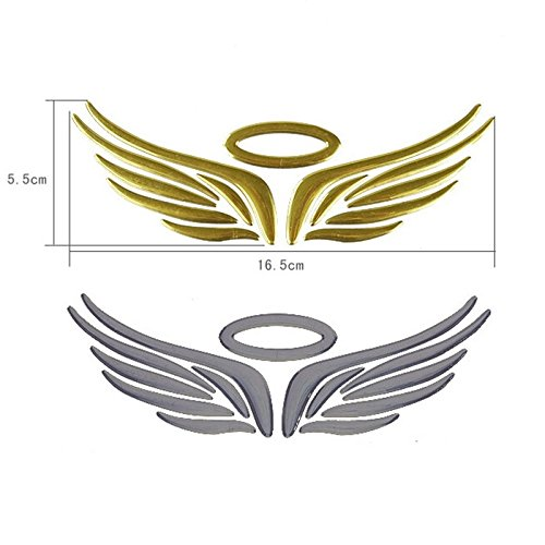 KitMax (TM) Pack of 12 Sets 3D Angel Wings Auto Car Truck Laptop iPad Window Wall Motorcycle Decor Decal Sticker (Wing Window)