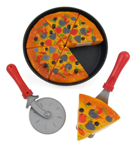 Liberty Imports Pizza Party Fast Food Cooking & Cutting Kitchen Play Set Toy for Kids