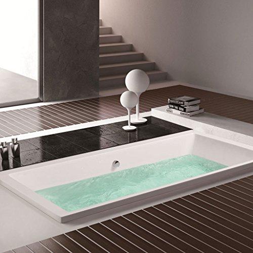 BHBL Rectangle Freestanding Soaking Bathtub Acrylic White(C-MEC3057A)