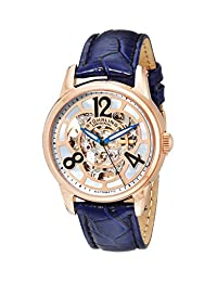 Stuhrling Original Women's Lifestyle Rosetta Automatic Skeleton Blue Dial Watch 365.134C8