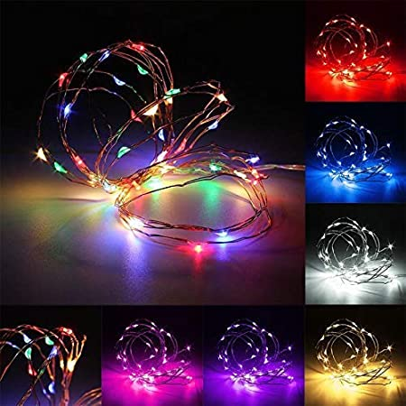 33ft 100 LED Halloween Decorative Lights with 8 Modes & Timer ...