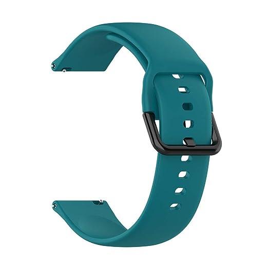 jgashf Correa Cuero Pulsera Silicona Watchband Repuesto de Correa ...