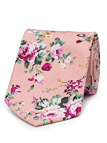 Paisley of London, Boys pink neckties, Boys slim neckties, Floral pattern - Kids Necktie