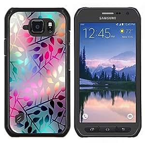 """Be-Star Único Patrón Plástico Duro Fundas Cover Cubre Hard Case Cover Para Samsung Galaxy S6 active / SM-G890 (NOT S6) ( Modelo en colores pastel de neón de la hoja"""" )"""
