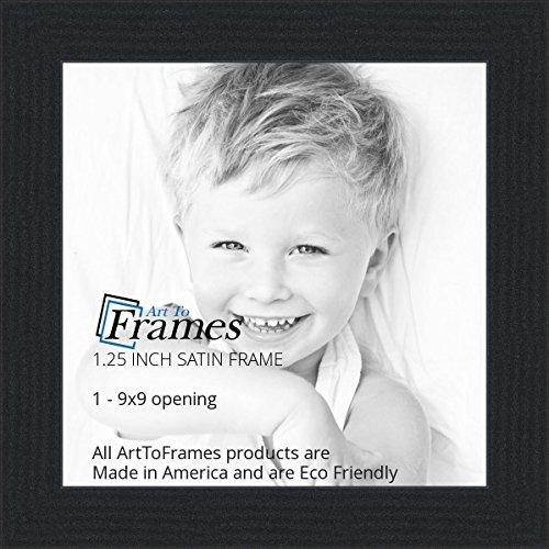 amazoncom arttoframes 9x9 inch satin black picture frame womfrbw26079 9x9 single frames