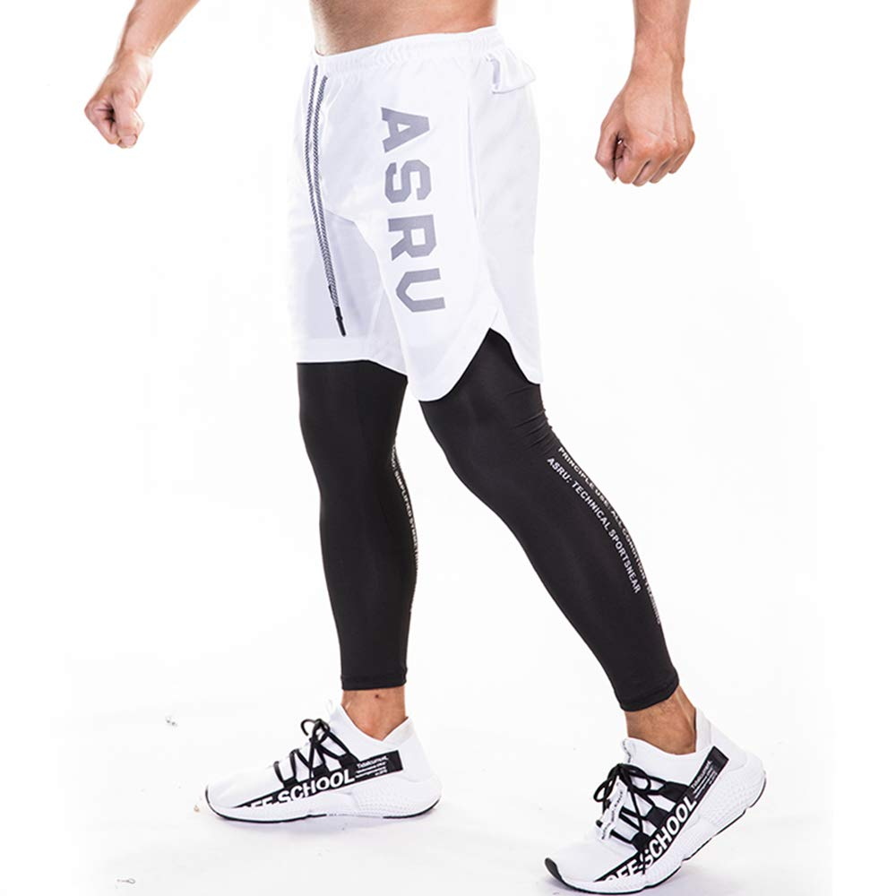Mens Compression Pants Running Tights Workout Baselayer Cool Dry Sports