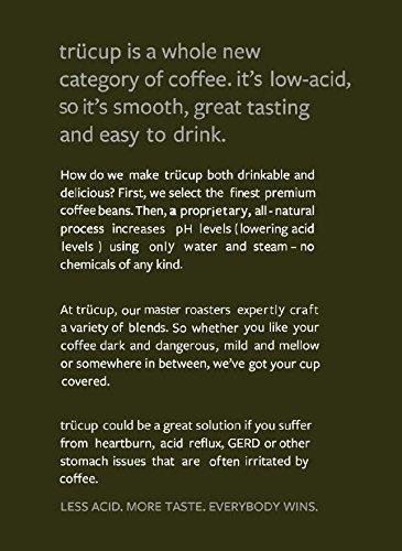 trücup Low Acid Coffee, French Press Grind, Dark as Night French Roast, 2 Pound by trücup coffee
