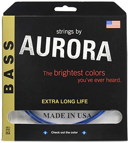 Aurora Bass Strings 4 Gauge Blue