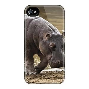 New Fashion Premium Tpu Case Cover For Iphone 4/4s - Hippopotamus