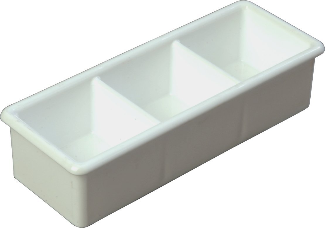 Carlisle 455202 3 Compartment Sugar Caddy, 50 Packet Capacity, White (Pack of 24)