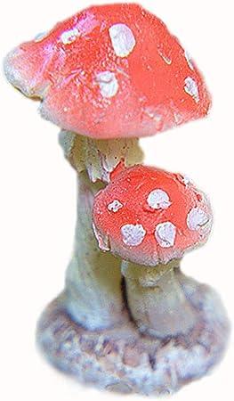 Hualieli Mini Resina Seta Toadstool Adornos de jardín Plantas en macetas Decora Simulación Jardín de Hongos Parque del Viento Paisaje Exterior Jardines Resina Escultura Decoración: Amazon.es: Hogar