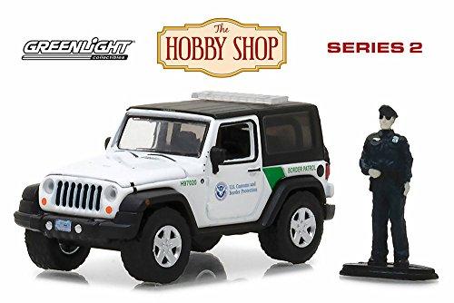 (2016 Jeep Wrangler U.S. Customs & Border Patrol, White - Greenlight 97020E/48 - 1/64 Scale Diecast Model Toy Car)