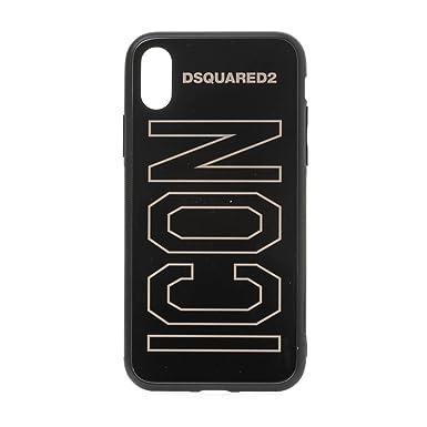 dd8c617e Dsquared Icon Iphone X Case Black One: Amazon.co.uk: Clothing