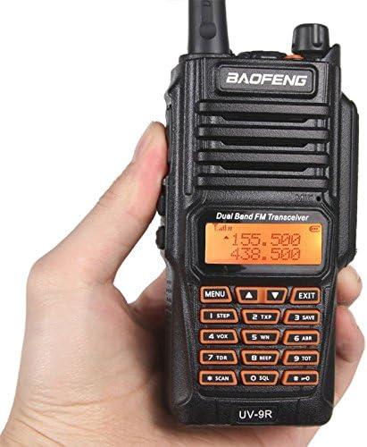 UV-9R Handheld Walkie Talkie 8W UHF VHF UV Dual Band IP67 Waterproof Two Way Radio