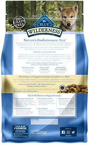 Blue Buffalo Wilderness High Protein Grain Free, Natural Puppy Dry Dog Food, Chicken 4.5-lb