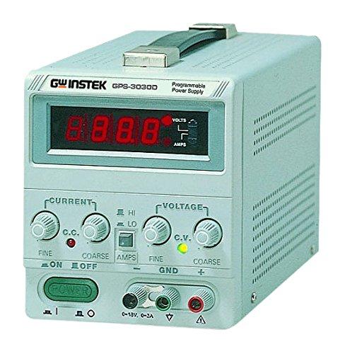 GW Instek Gps-3030Sortie unique d'alimentation CC linéaire avec affichage analogique au mètre, 90W 90W