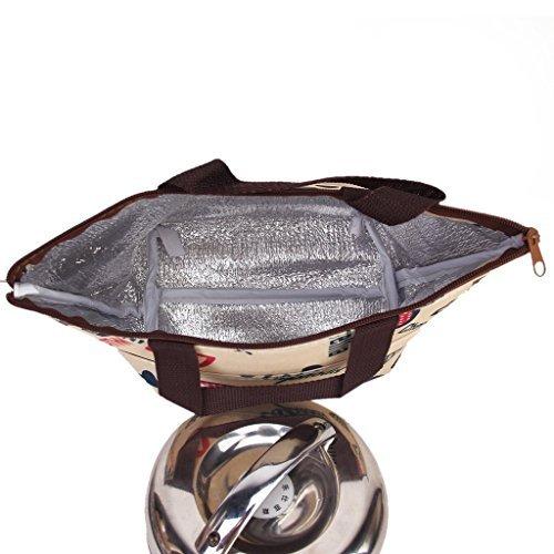 Sacchetto Di Tote Lunchbox Isolati Borsa Secchiello Per Picnic Viaggi - Cuore Del Modello