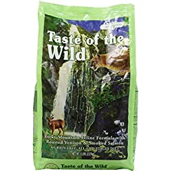 Taste of the Wild Dry Cat Food, Rocky Mountain Feline Formula with Roasted Venison and Smoked Salmon, 5 Pound Bag by Taste of the Wild