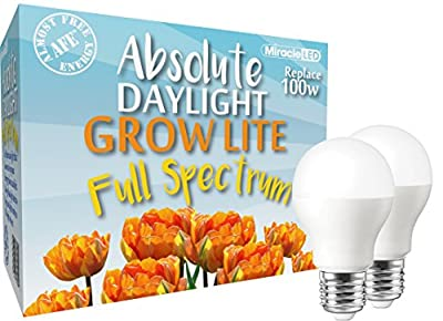 MiracleLED 604437 Full Spectrum LED Grow Lightbulb