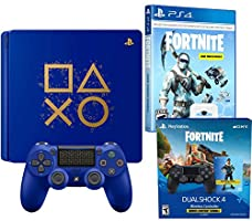 Playstation Battle Royale Fortnite Frostbite and Royale Bomber Limited Bundle: Days of Play 1TB Playstation 4 Slim Consle, 1500 V-Bucks, Frostbite and Royale Bomber Epic Skin Set