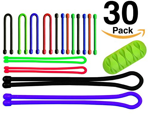 30-pack-ohill-multi-color-reusable-rubber-twist-ties-eco-friendly-silicone-cable-tie-for-computer-ap