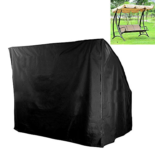 """Hootech Outdoor Swing Cover 3 Triple Seater Hammock Patio Swing Chair Cover Durable Water Resistant All Weather Protection 67""""Lx (Seater Swing Seat)"""